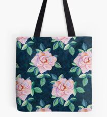 Simple Pink Rose Oil Painting Pattern Tote Bag