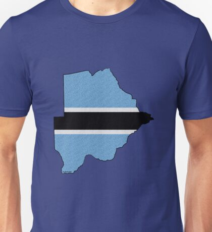 Botswana Map With Flag Unisex T-Shirt