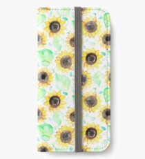 Cheerful Watercolor Sunflowers iPhone Wallet/Case/Skin
