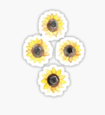 Cheerful Watercolor Sunflowers Sticker