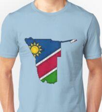 Namibia Map With Namibian Flag Unisex T-Shirt