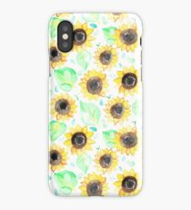 Cheerful Watercolor Sunflowers iPhone Case/Skin