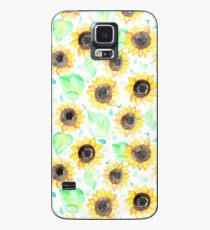 Cheerful Watercolor Sunflowers Case/Skin for Samsung Galaxy