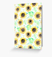 Cheerful Watercolor Sunflowers Greeting Card