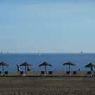 Beach, Malaga, Spain by Pawel J