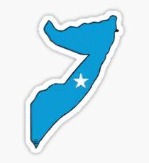 Somalia Map With Somalian Flag Sticker