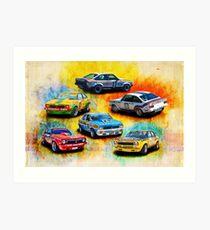 Group C Holden Toranas Art Print