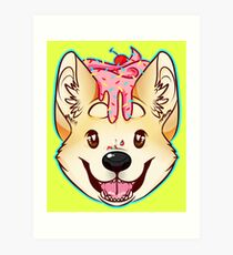 Cupcake Corgi Art Print