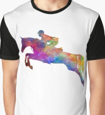 Horse show 06 in watercolor Graphic T-Shirt