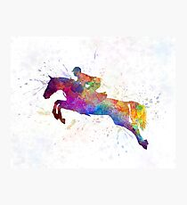 Horse show 06 in watercolor Photographic Print