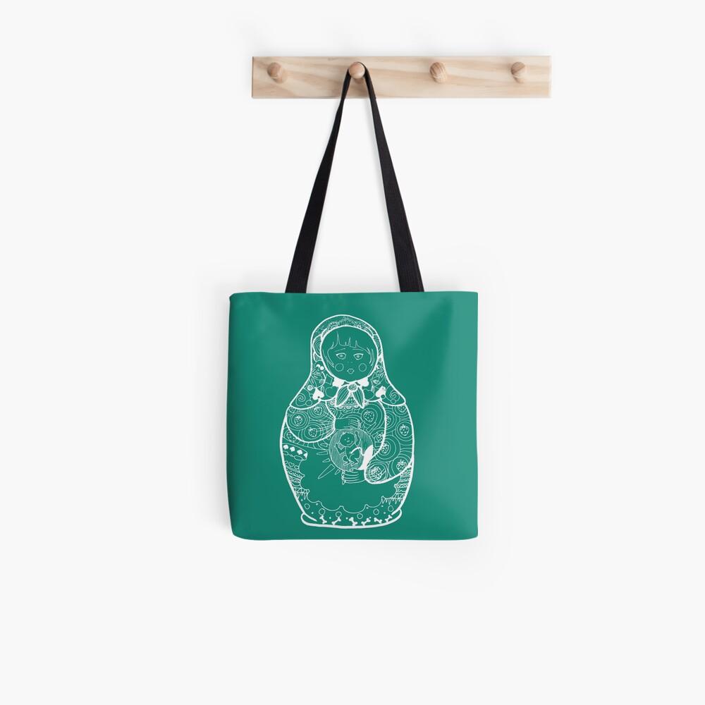 matriochka white Tote Bag