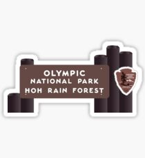 Hoh Rainforest - Olympic National Park Sign, Washington, USA Sticker