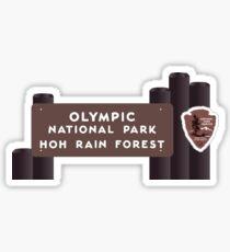Hoh Rainforest - olympisches Nationalpark-Zeichen, Washington, USA Sticker