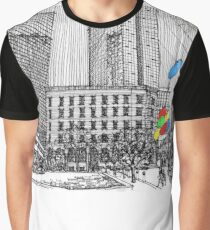 Sunny Day Cityscape Streetscape Graphic T-Shirt