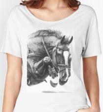 Camiseta ancha Catching Air - Caballo de salto de obstáculos
