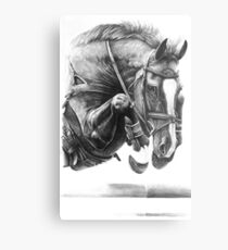 Catching Air - Showjumping Horse Metal Print