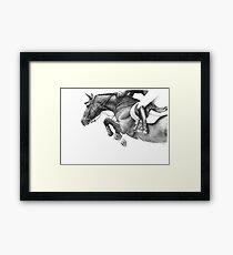 Flick - Showjumping Horse Framed Print