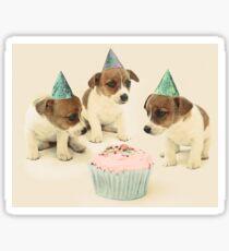 Vintage Puppy Birthday Card Sticker