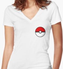 Team Valor Poké Ball | Pokémon Go Women's Fitted V-Neck T-Shirt
