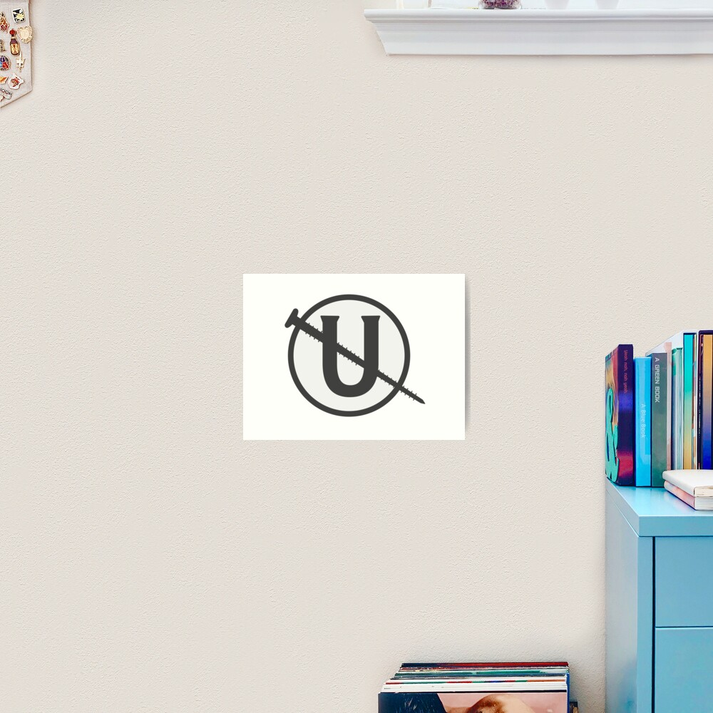 Holtzmann Screw U Necklace Ghostbusters Art Print