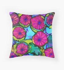 Basket of Petunias Throw Pillow