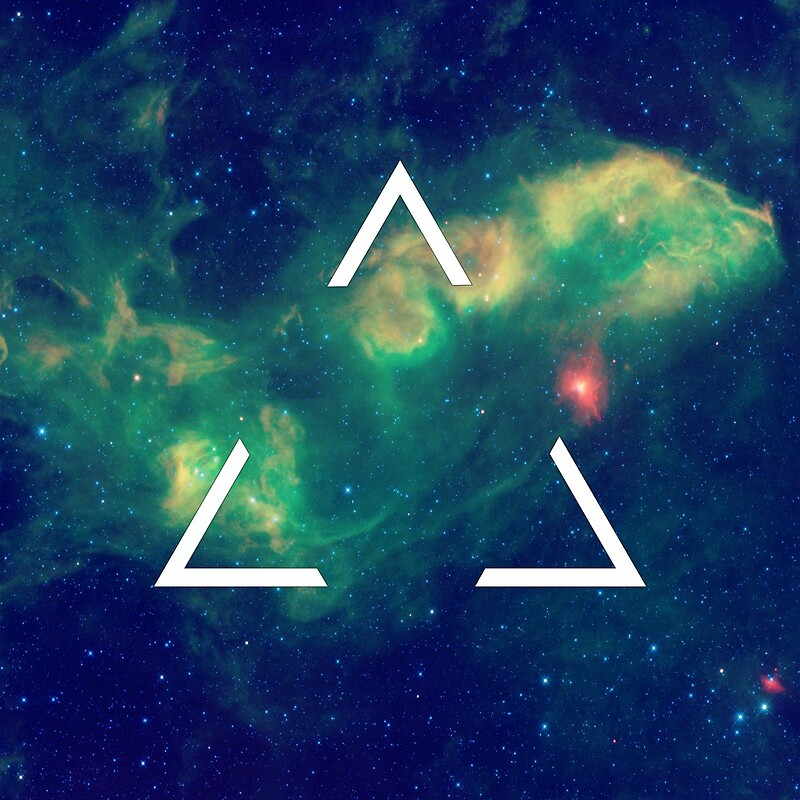 Quot Hipster Triangle In Space Quot By Hipsterapparel Redbubble