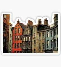 Edinburgh skyline Sticker