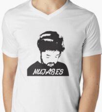 NUJABES Men's V-Neck T-Shirt