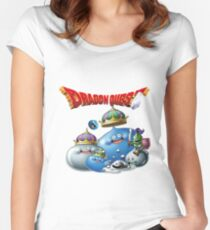Dragon Quest - slime Women's Fitted Scoop T-Shirt