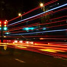 Traffic Lights at Night by RWhiting