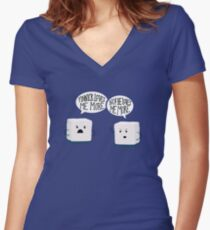 Sugar Cubes Women's Fitted V-Neck T-Shirt