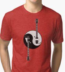 Guitar Yin Yang Tri-blend T-Shirt