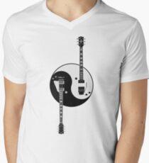 Guitar Yin Yang Men's V-Neck T-Shirt