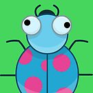 Funny Colorful Cute Little Bug by Liron Peer
