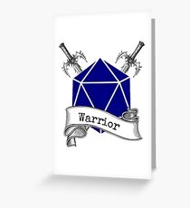 Warrior Dungeons and Dragons Greeting Card