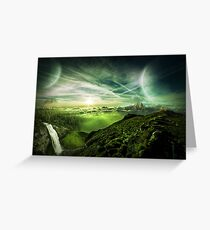 Forest Of Another World Concept Art Design Greeting Card