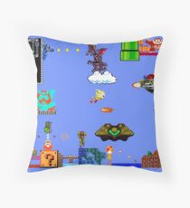 Old School Times - Set 2 of 2 Throw Pillow