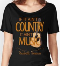 Nashville Country Music  Women's Relaxed Fit T-Shirt