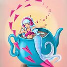 Teapot Mermaid by Marta Tesoro