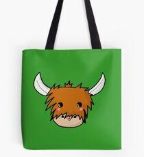 Kawaii Highland Cute Coo (Cow) Glasgow  Tote Bag
