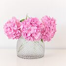 Hydrangea bouquet in pink by Zoe Power