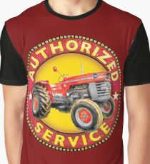 Massey Ferguson Vintage Tractor Service Graphic T-Shirt