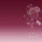 Aries Zodiac constellation - Starry sky by chartofthemomen