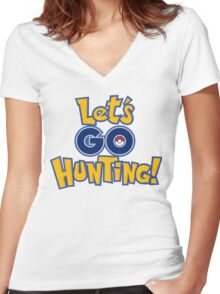 Let's Go Hunting! Women's Fitted V-Neck T-Shirt
