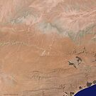 Satellite image Southeast Yemen by Jim Plaxco