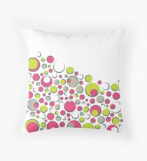 Bubble Dot Polka Gum Throw Pillow