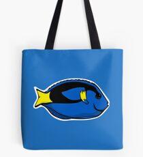 Blue Tang Illustration Tote Bag