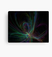 Going in the Right Direction - Fractal Black Green Purple Canvas Print