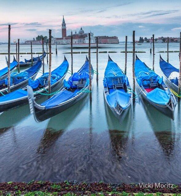 Venice Gondolas by Vicki Moritz