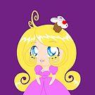 Blond Cupcake Princess In Pink Dress by Liron Peer